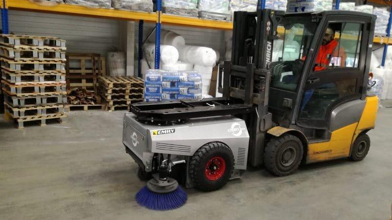 Industrielle Kehrmaschine ohne Anschlüsse Clean'Box